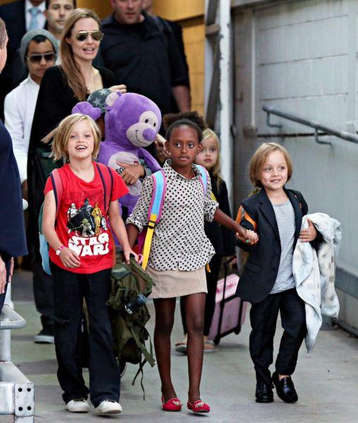 Η Αντζελίνα Τζολί με τα 6 παιδιά της στην Αυστραλία | imommy.gr