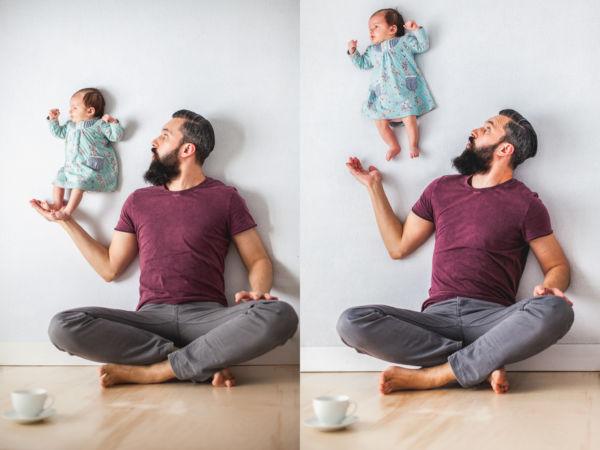 Εικόνες: Ένας μπαμπάς «παίζει» με τη νεογέννητη κόρη του | imommy.gr