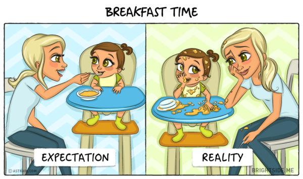 Η μητρότητα σε σκίτσα: Προσδοκίες VS Πραγματικότητα | imommy.gr