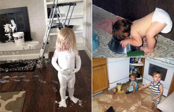 Εικόνες: Αυτό πάει να πει »Μαμά έκανα ζημιά»! | imommy.gr
