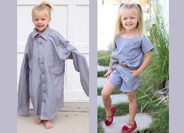 Μαμά μετατρέπει τα πουκάμισα του συζύγου της σε φορέματα για την κόρη τους | imommy.gr