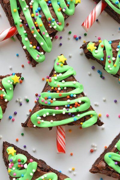 Xριστουγεννιάτικα δεντράκια brownies με σοκολάτα | imommy.gr