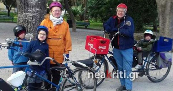 Οικογένεια από τη Φινλανδία έφτασε με ποδήλατο στα Χανιά | imommy.gr