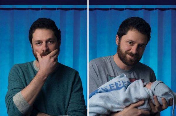 Πορτραίτα ανδρών πριν και μετά την γέννηση του πρώτου τους παιδιού | imommy.gr