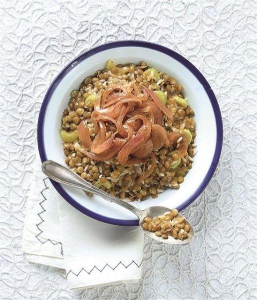 Φακές με κρεμμύδια και ρύζι | imommy.gr