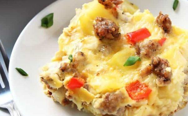 Σουφλέ με πατάτες και λουκάνικα | imommy.gr