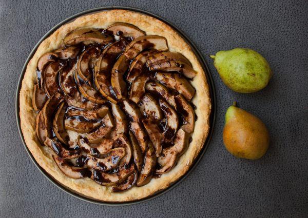 Σοκολατένια τάρτα με αχλάδια | imommy.gr
