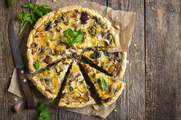 Τάρτα με πράσο, τυρί και μανιτάρια | imommy.gr