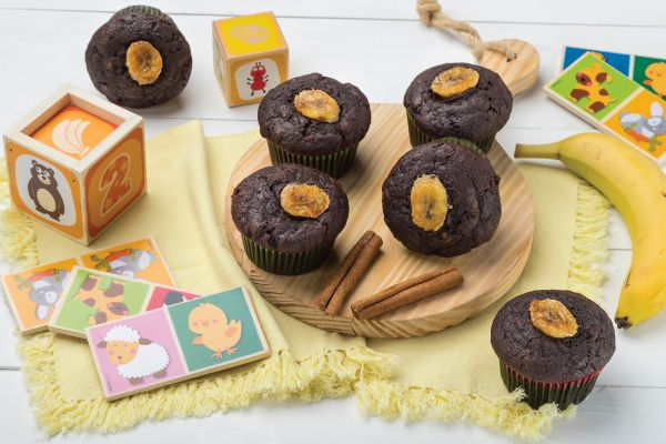 Choco Muffins με μπανάνα και μπαχαρικά | imommy.gr