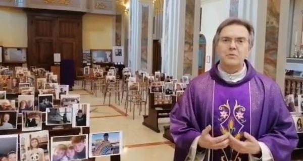 Κοροναϊός : Ιερέας τελεί λειτουργία σε εκκλησία γεμάτη… με φωτογραφίες πιστών | imommy.gr